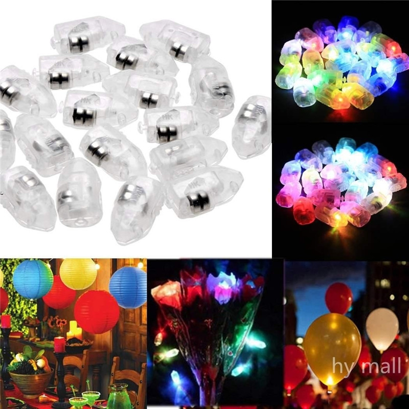 10pcs/lot LED Lamps Balloon Lights for Paper Lantern Balloons Christmas wedding Party Decoration natale White or Multicolor -W(China (Mainland))