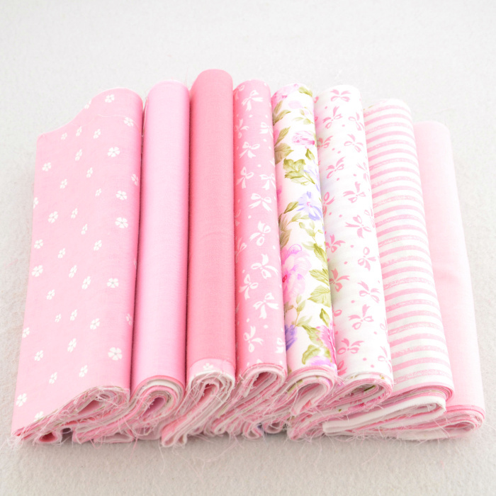 8 Pieces 20cmx50cm pink patchwork fabric bundle 100% cotton cloth home textile quilting bedding tilda sewing supplies W3B6-12(China (Mainland))