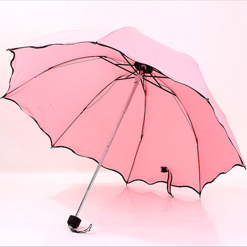 umbrella lovely lotus leaf edge arched rainbow umbrella seventy percent off water repellent Apollo umbrella advertising(China (Mainland))
