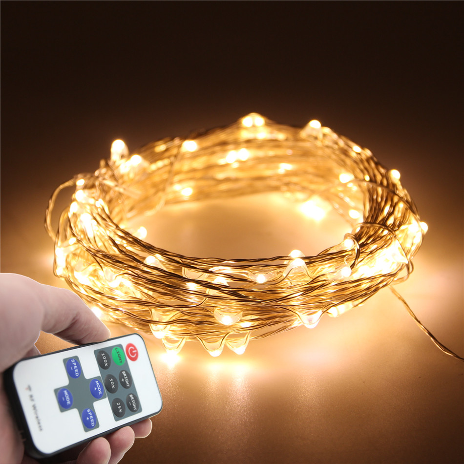 33FT 10M 100LED 5M 50LED 5V USB LED String Silver Copper Wire Fairy String Lights Indoor Outdoor christmas wedding decoration(China (Mainland))