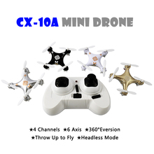 Cheerson CX-10A Mini Drone Quadcopter Headless Mode 6-Axis GYRO RC Helicopter Quadrocopter Drones Cheerson CX-10 CX 10