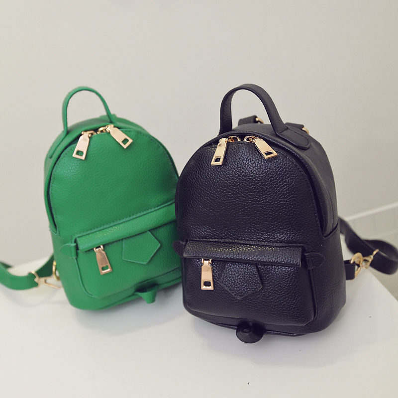 New Arrival Fashion Women Mini Backpack Pu Leather Preppy Style Backpack Vintage School Bag R225(China (Mainland))