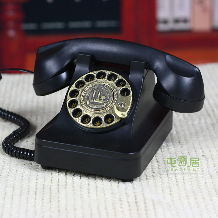 European Code of authentic / classic metal rotary dial telephone Antique / vintage retro telephone(China (Mainland))
