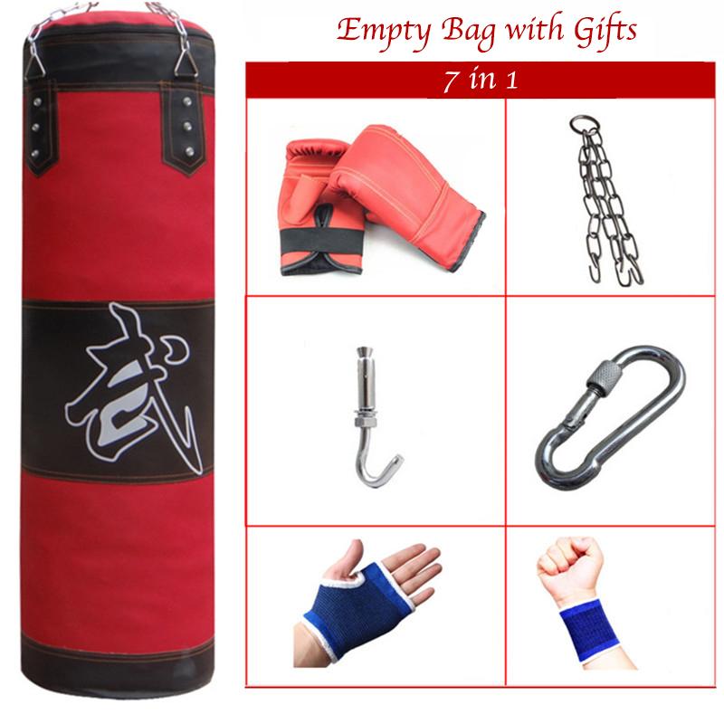 80 100 120cm empty sandbag health punching bag