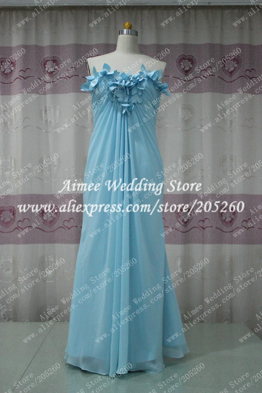 Ry089 custom made modest trim light sky blue ruffles for Wedding dress with blue trim