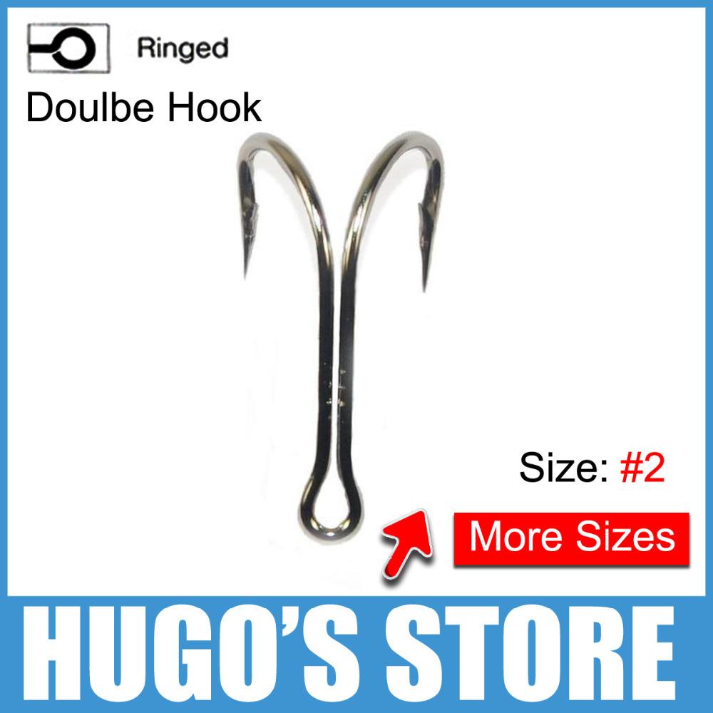 100pcs/lot Size 2 Sharp Soft Lure Double Fishing Hooks Wholesale Double Hooks China Factory Customize<br><br>Aliexpress