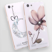 Buy Luxury Bling Diamond Inlay Soft Ultra Thin Transparent TPU 3D Relief Painting Cover Oppo Neo 7 Oppo A33 Case Funda Capa for $2.88 in AliExpress store