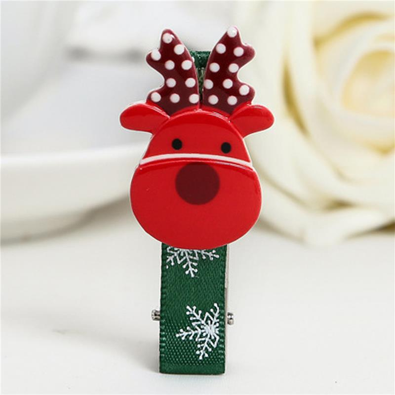 New high quality resin Christmas hair clips baby girl hairwear Women hairpins children hair accessories Christmas Ornament(China (Mainland))