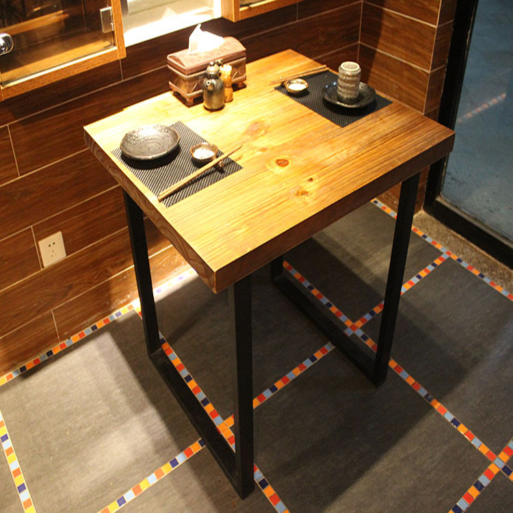 However excellent home American country retro coffee table wrought iron wood dining tables and chairs Bar Cafe casual(China (Mainland))