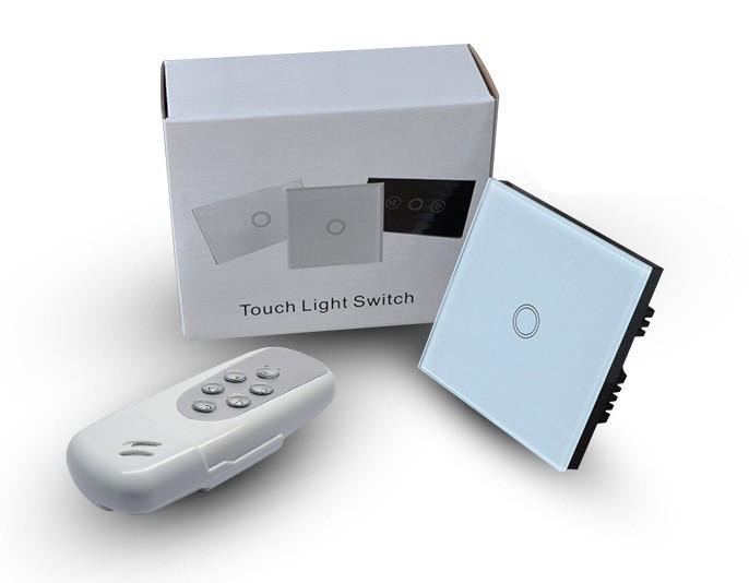 Купить Makegood Беспроводной 3 Gang 2 путь Пульт Дистанционного Управления Сенсорный Выключатель с синим СВЕТОДИОДНЫМ индикатором, РФ 433 МГц, настенный Выключатель Света для ВЕЛИКОБРИТАНИИ Standard