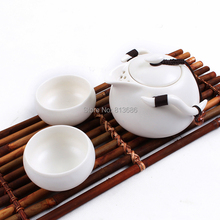 Three Color Porcelain Tea Set Travel Teapot &Tea Cup Set