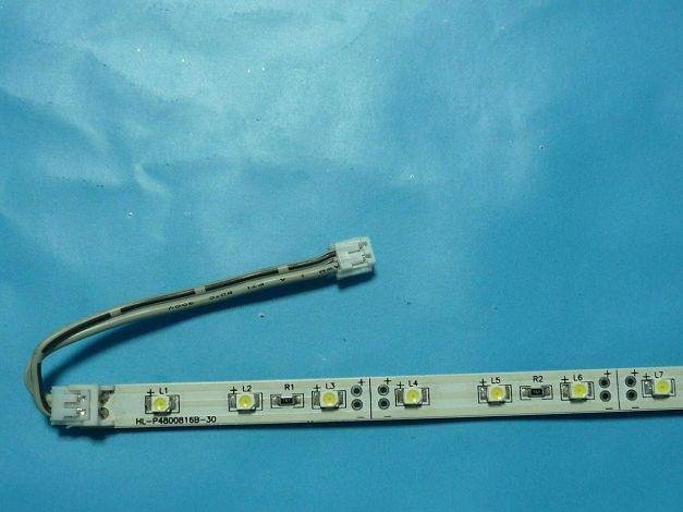 non-waterproof 3528 SMD LED Rigid strip light;30pcs led;0.5m long;blue color