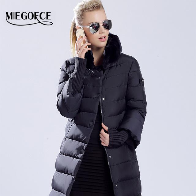 MIEGOFCE 2016 пуховик зимний женский пальто пуховик новый бренд одежды Зимняя Одежда Модный Женский Пуховик Утолщение Парка куртка пальто женское кроличья шерсть открытый теплое пальто