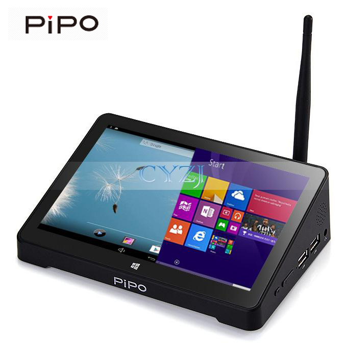 PIPO X8 Windows8.1 Android4.4 Dual Boot TV BOX Intel Z3736F Quad Core Mini PC 7'Tablet HDMI 2G/32G / 64GB 802.11b/g/n LAN BT4.0(China (Mainland))