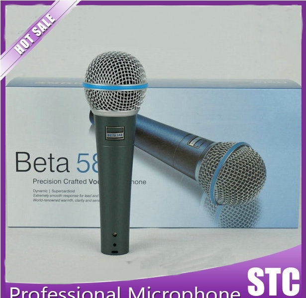 Free Shipping! Professional Classics Type Beta 58A Wired Stage Handheld Karaoke Dynamic Microphone 58 A(China (Mainland))