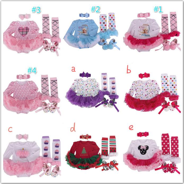 2016 Minnie Princess dress 2-3-/set baby girls clothes infant Romper clothe Headdress flower+socks+band+shoes - Saletoworlds Store store