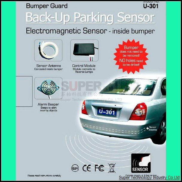 Model U301 Electromagnetic sensor for car no holes need to be drilled rear drive assistance,car radar car alarm security sensor(China (Mainland))