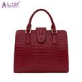 AIKEWEILI Genuine Leather Bag Ladies Crocodile Pattern Women Messenger Bags Handbags Women Famous Brand Designer
