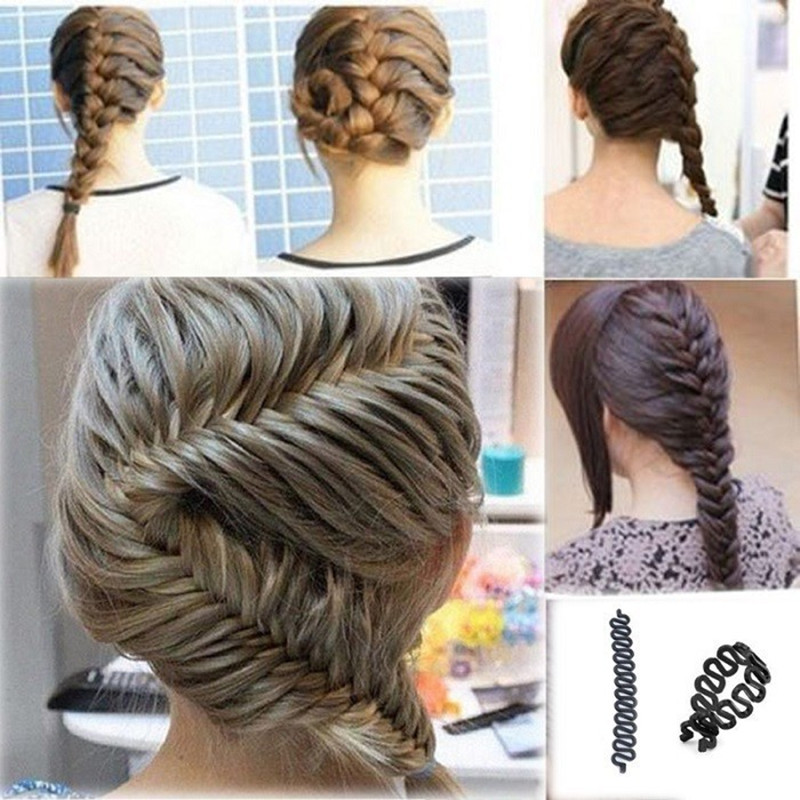 Fashion Plastic Hair Braiding Braider Tool Roller With Magic hair Twist Styling Bun Maker(China (Mainland))