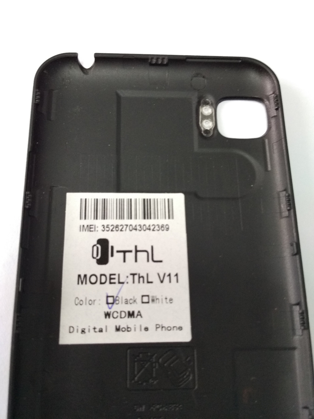 Used 100% original Thl V11 battery cover back shell repair replacement accessories for Thl V11 Phone Free shipping+Tracking