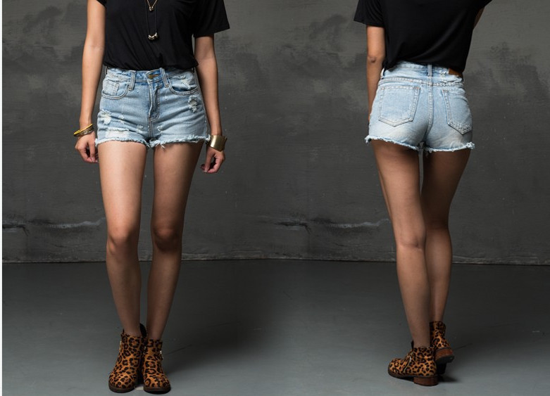 denim shorts summer sexy ripped short jeans for women female torn ...