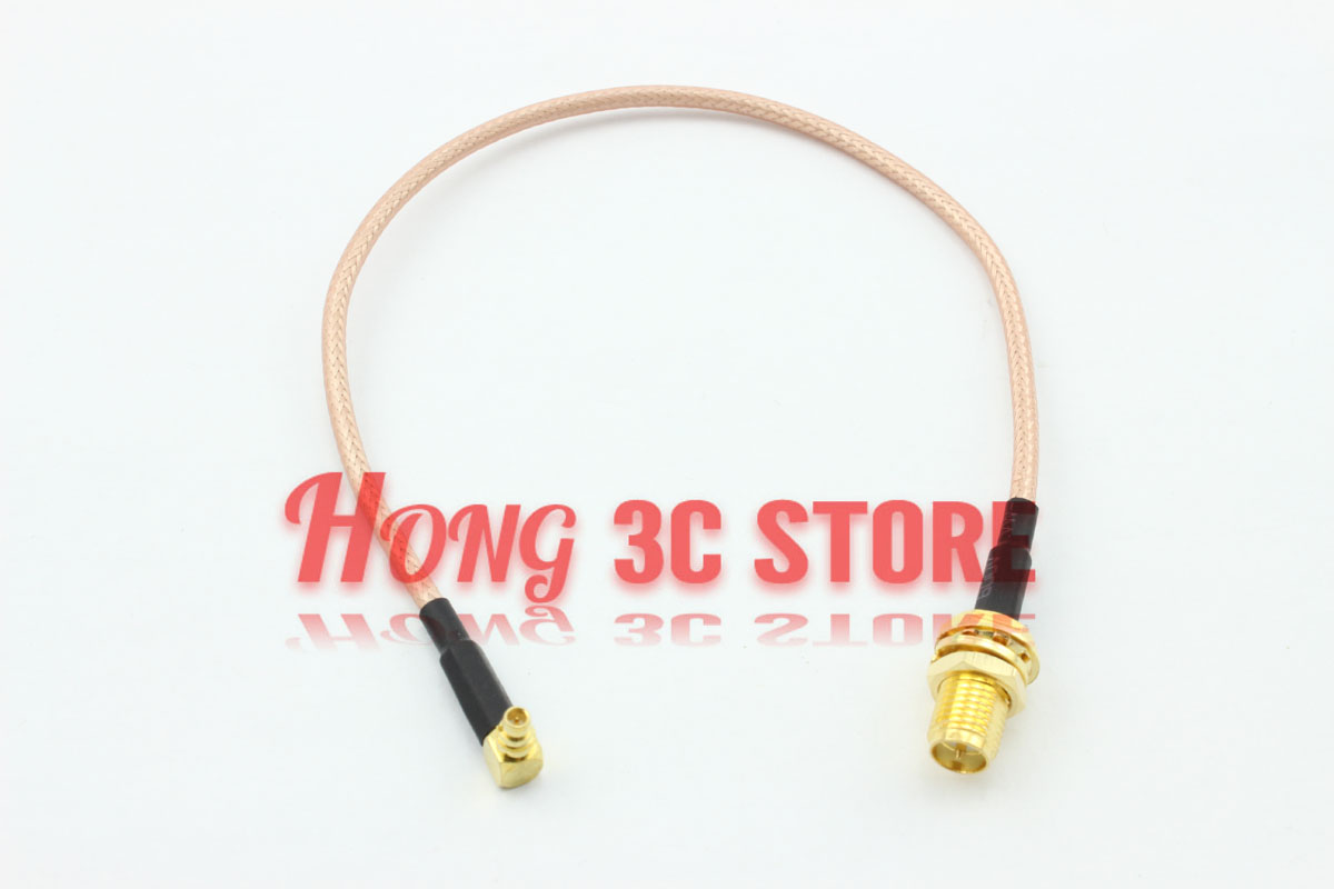 Free Shipping 2 pcs 20cm Cable RP SMA Jack to Right Angle MMCX Plug Connector Extension Cable RG316<br><br>Aliexpress
