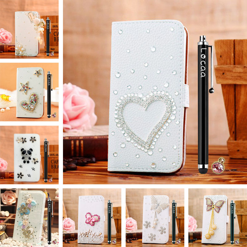 3D Bling Leather Business High Wallet Present Stylish Gift Shell Cover Case For LG Optimus L9 P760 P765 [General 1](China (Mainland))