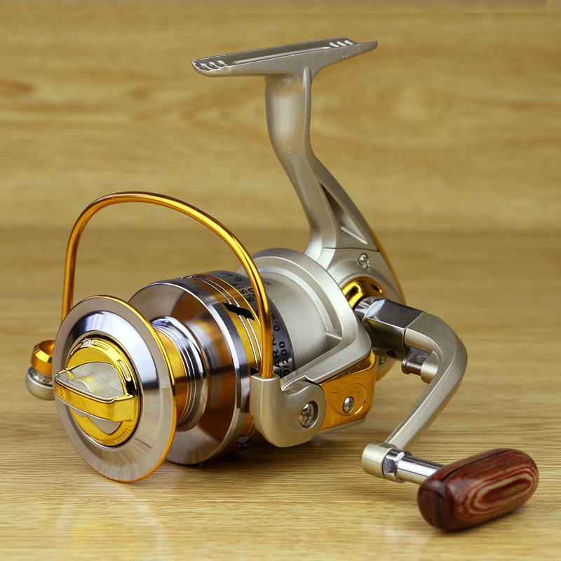 Free shipping yellow 10BB Spool Aluminum Spinning Fishing Reels For Front Drag Baitcasting Spinning Reel Coil(China (Mainland))