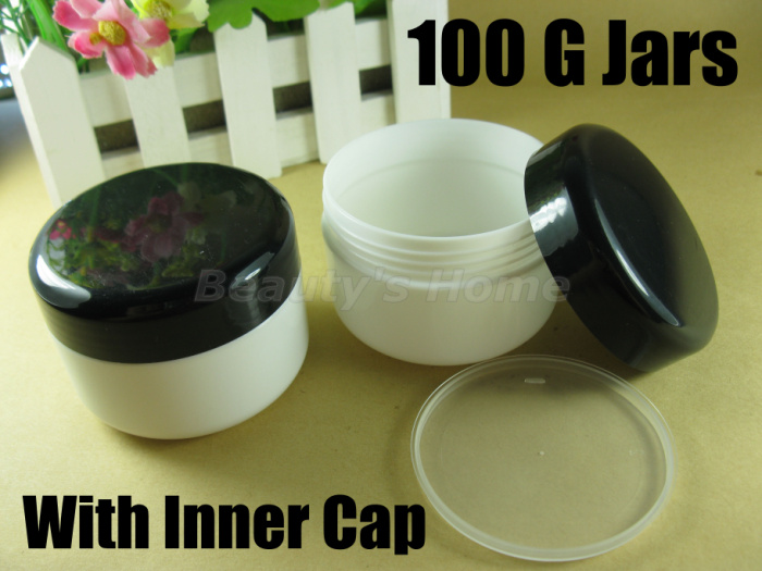100 ml big size jars cosmetic cream jar inner cap refillable bottle Empty Bottle #1838 - Packing Supplier(Bottles and Jars store)