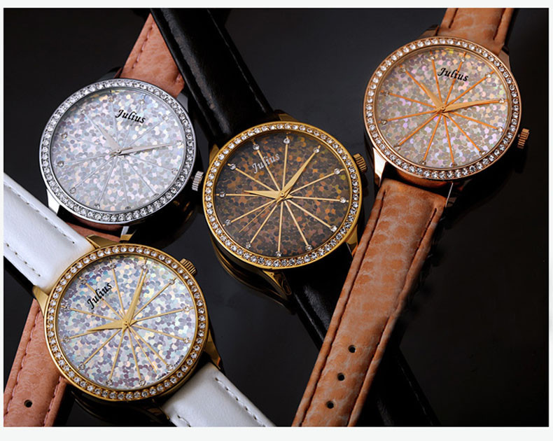 5 Colors Lady Woman Watch Japan Quartz Hours Best Fashion Dress Bracelet Rainbow Mermaid Scale Leather Girl Gift Box 791
