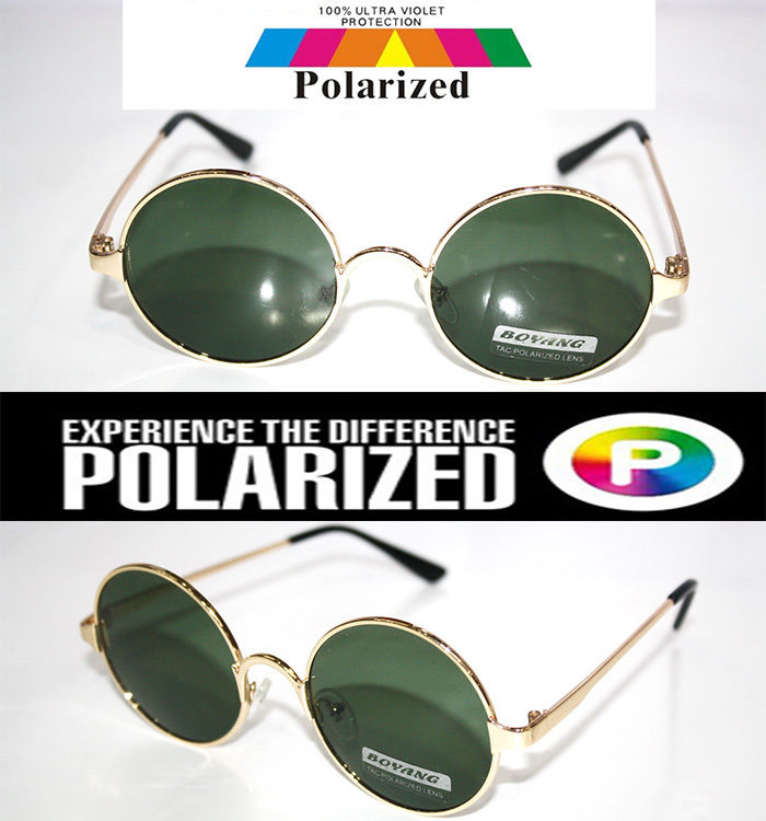 2015 Round Retro classical Driver's TAC enhanced polarized polaroid polarised golf fishing UV 400 Men women sunglasses(China (Mainland))