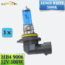Buy 9006 HB4 12V 100W Halogen Lamp Car 5000K Headlight Bulb Super White Replacement Quartz Glass Xenon Dark Blue for $1.25 in AliExpress store