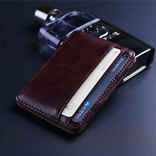 Fashion Retro style Mens Magic MONEY CLIPS Men's Leather wallets Multifunctional Credit Card Case Cash Holder Pocket Mini Wallet(China (Mainland))