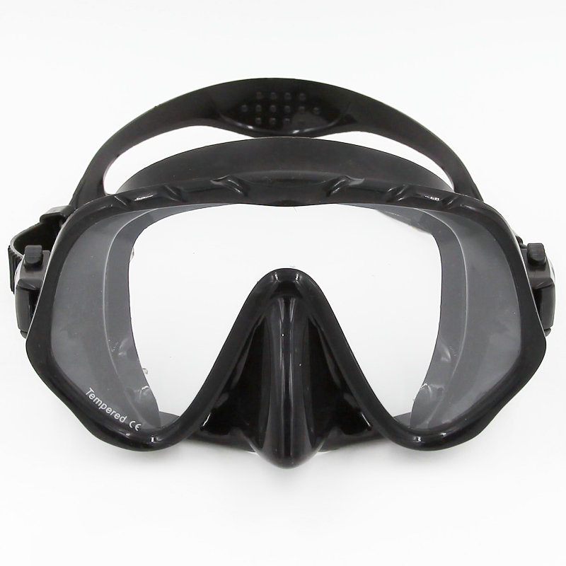 Whale brand Seal Silicone Skirt Strap Snorkel Scuba Dive Mask & Goggle with Great Vision & Tempered Glass for Adult Free Diving(China (Mainland))