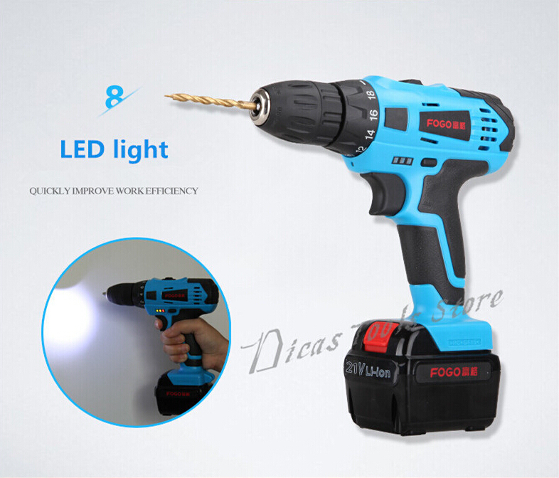 21V Electric Screwdriver Cordless Drill Battery 1 Rechargeable Farafusadeira Furadeira Manual Electric Screwdriver Power Tools