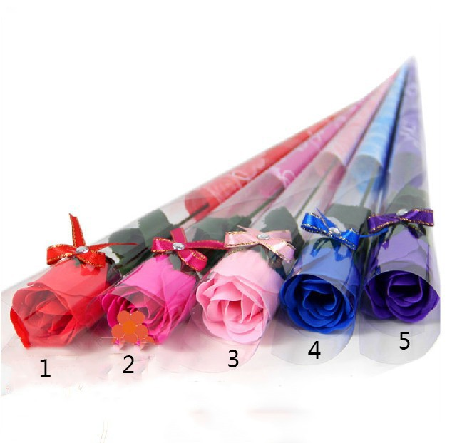 Free shipping Wholesale High quality mix colour rose Soap flower(30pcs/lot) for romantic bath and valentine's gift.(China (Mainland))