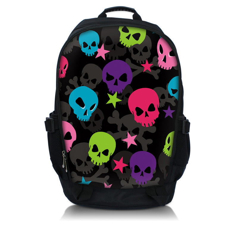 Laptop Colors Colorful Skull Laptop Backpack