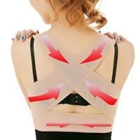 Elastic Women Adjustable Back Support Belt Posture Correstor Chest Support Braces M-L