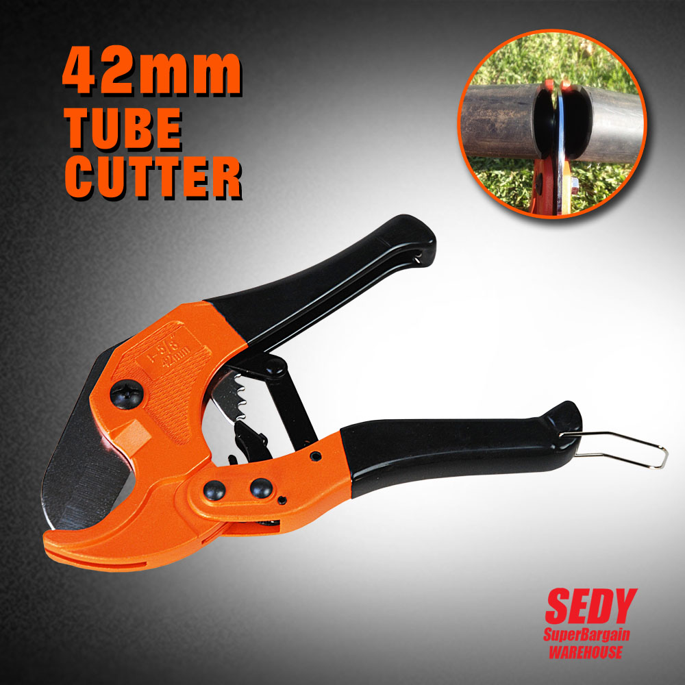 42mm PVC Pipe Plumbing Tube Plastic Hose Cutter Pliers Tool Ratcheting Type 16002 4-0(China (Mainland))