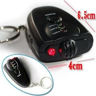 Breath Digital Alcohol Tester with LED Flashlight ,Key Chain Style,with color box package(China (Mainland))