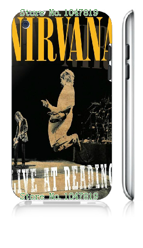 Mobile Phone Case Retail 1pc nirvana rock band Design Protective White Hard Case Cover For ipod touch 4 4th Free Shipping(China (Mainland))