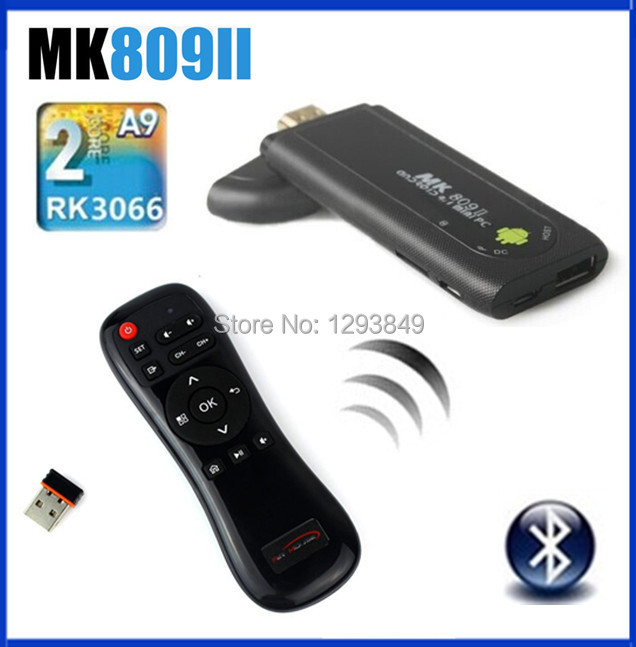 2.4G EA-01+MK809 II Google Mini PC Android 4.2.2 TV Box Dual Core 1.6Ghz RK3066 RAM 1GB ROM 8GB with Bluetooth HDMI(China (Mainland))