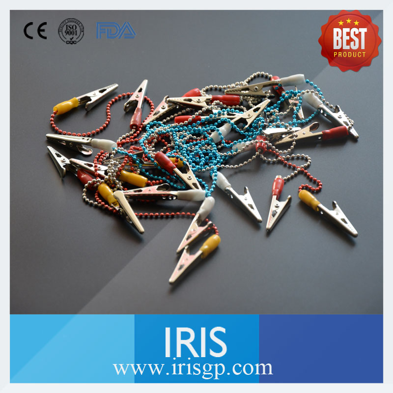 [IRIS] Best Price of 500 Pieces Colorful Dental Metal Ball Chain Clips for Dental Paper Bibs Dental Napkin Holder<br><br>Aliexpress