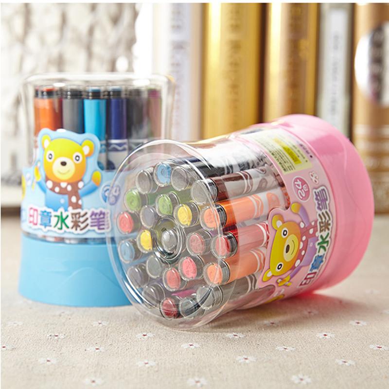 Single barrel 12/18/24/36 color master seal washable watercolor pen graffiti painting pen barrel ZW-205-36 children<br><br>Aliexpress