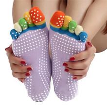 Newly Design High Quality Yoga Socks 5 Toes Cotton Socks Exercise Sports Pilates Massage Sock May20