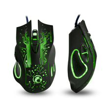 2016 x9 2400DPI LED Optical 6D USB Wired Gaming Mouse gamer For PC computer Laptop perfect upgrade combine x5 x7 High Quality