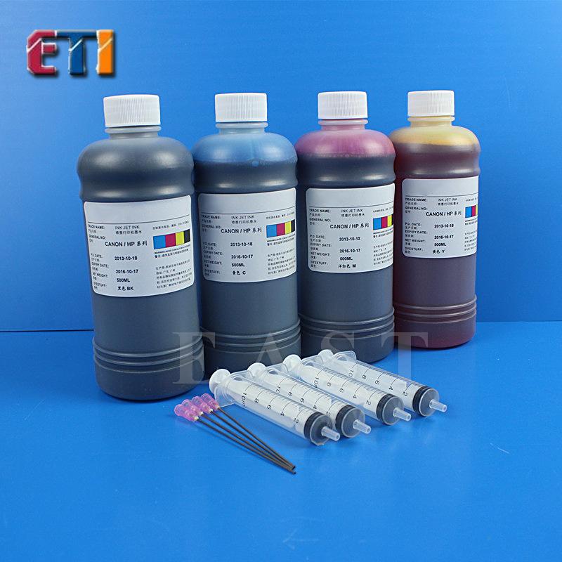 (ETI) FOR Canon HP printer ink CISS FOR CANON nano ink 500ml * 4 color<br><br>Aliexpress
