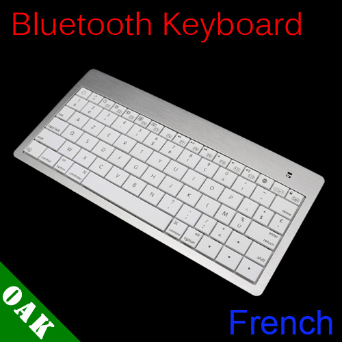 Free Shipping - BK6089 Ultra Slim French Version Wireless Bluetooth Keyboard for Windows/Apple System - Dropshipping(China (Mainland))