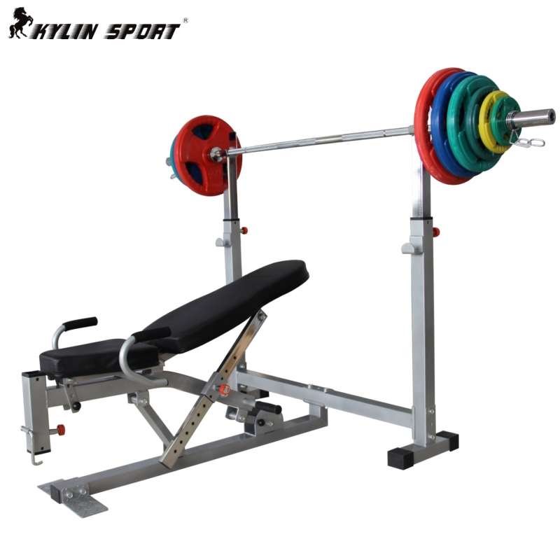 Luxury Multifunctional Bed Weight Lifting Barbell Bench Stand Stool Rack Barbell Bed Fitness