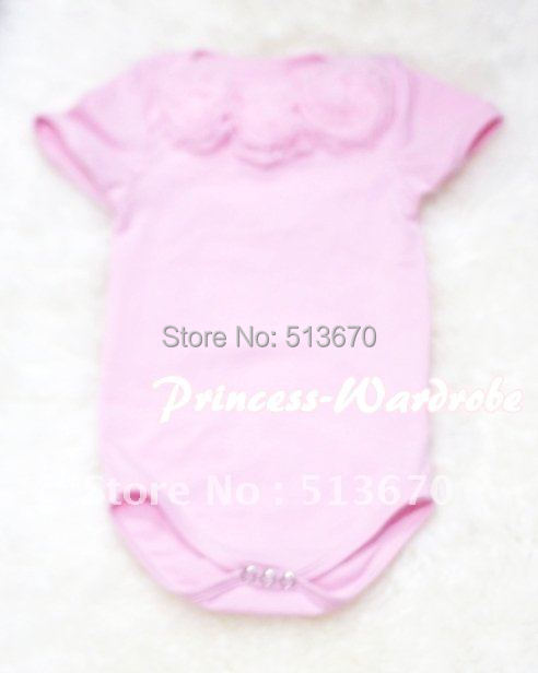 Light Pink Baby Jumpsuit with Pink Rosettes MATH50<br><br>Aliexpress
